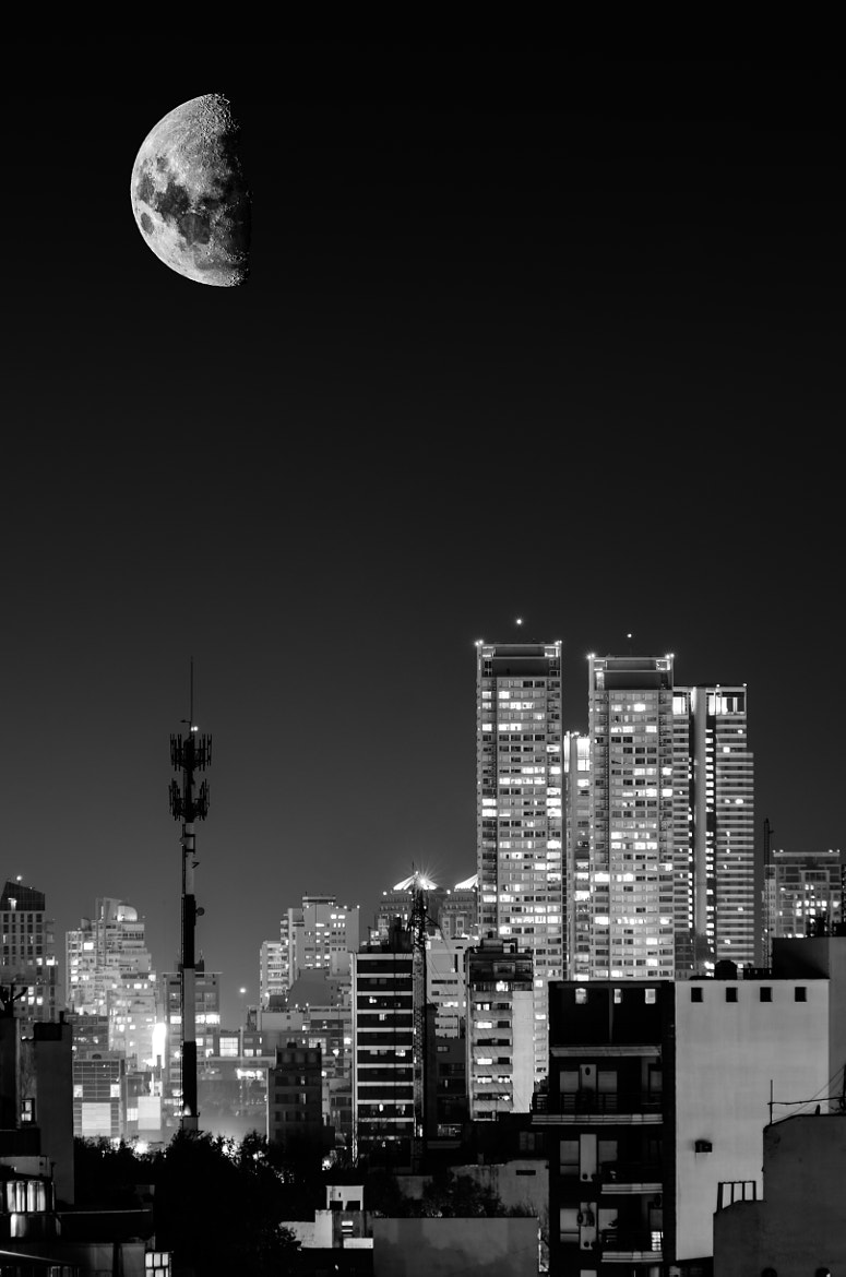 Photograph Moon over Buenos Aires by Martin Balo on 500px