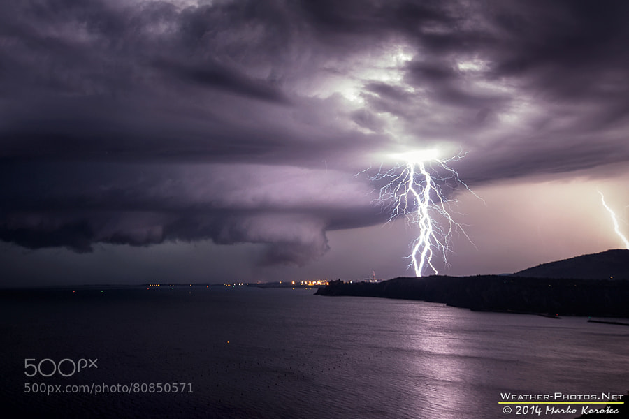 Photograph Lightning illuminated supercell by Marko Korošec on 500px