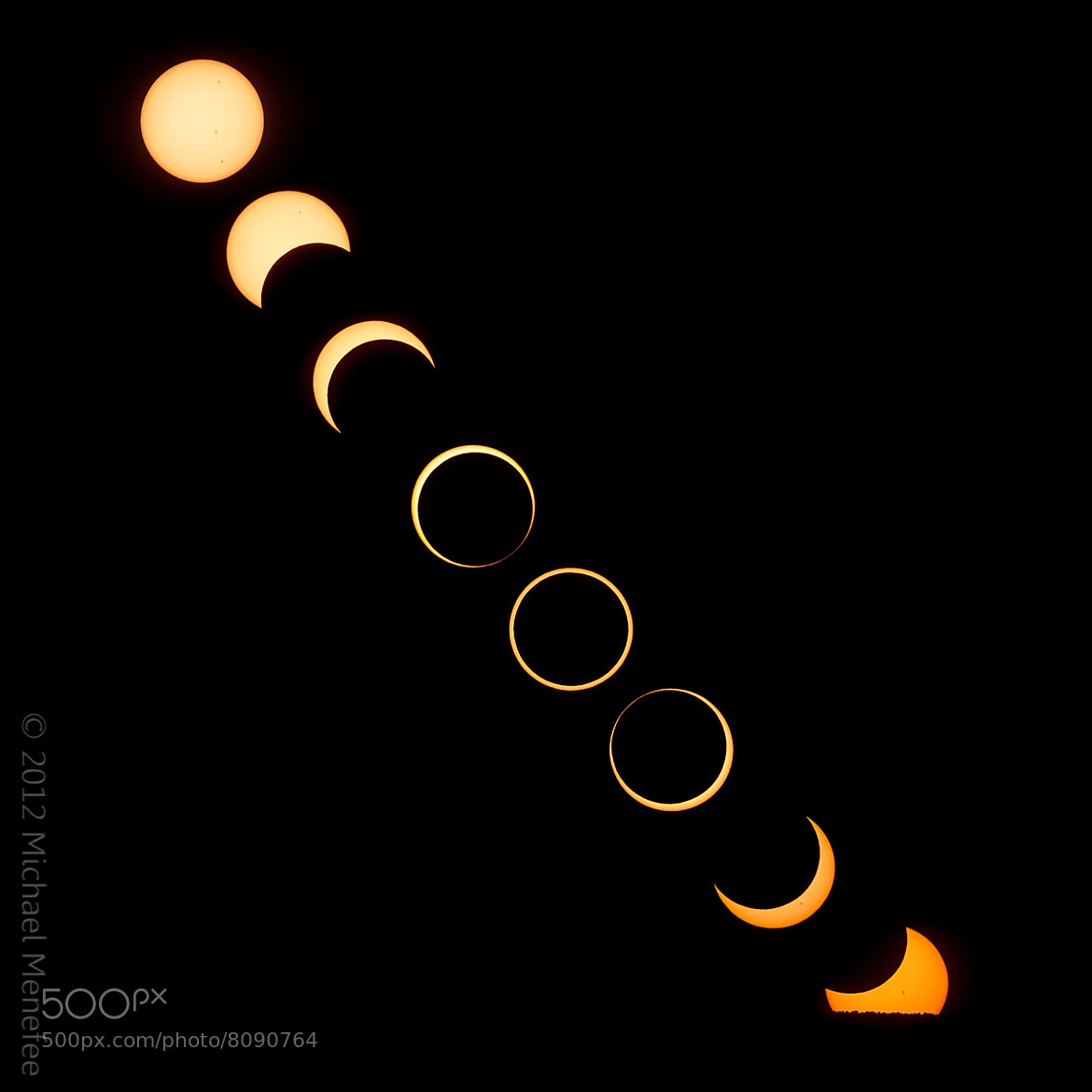Photograph The Setting of the Annular Solar Eclipse of 2012, May 20 by Michael Menefee on 500px