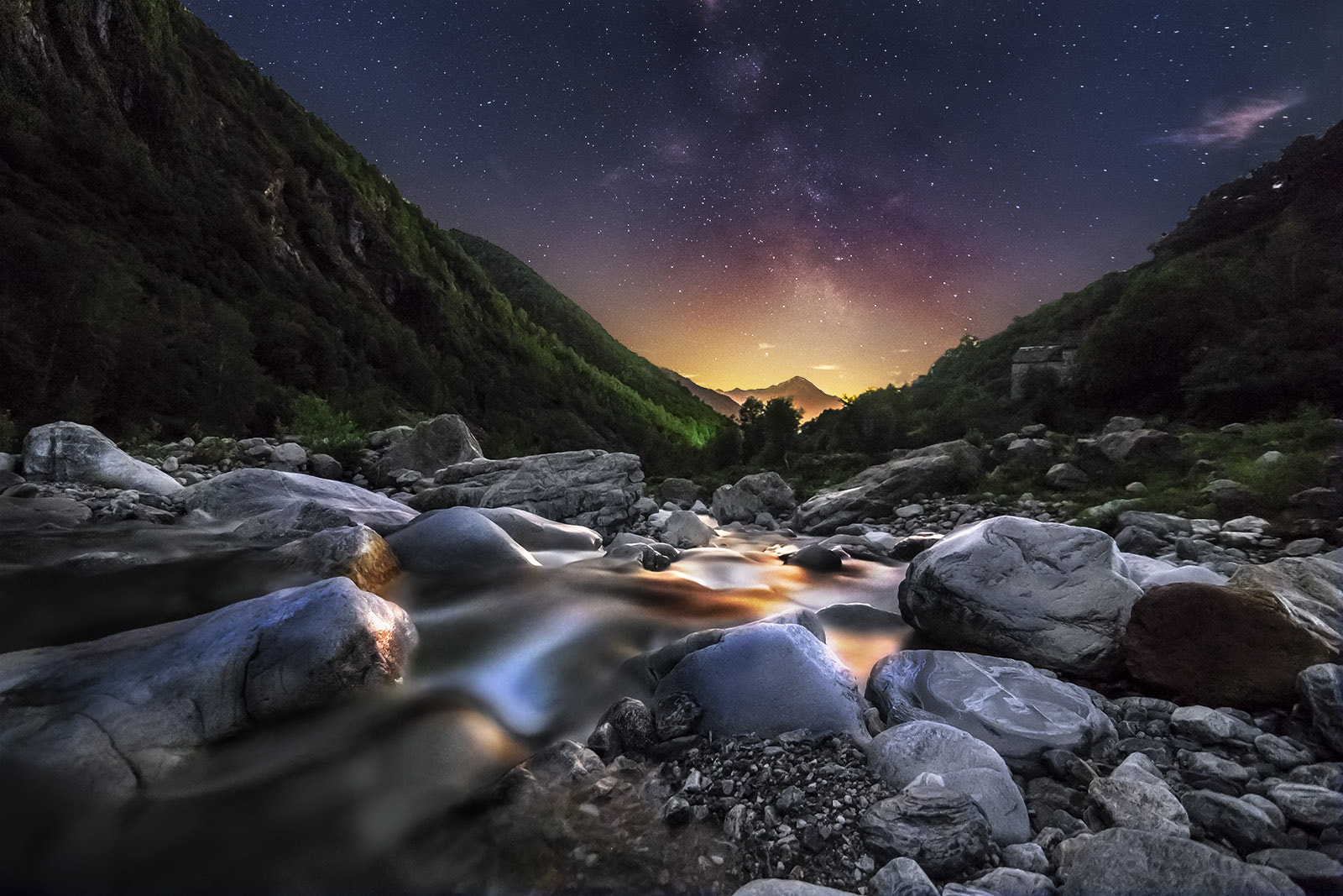 Photograph Golden dream Milky way Nightscape by Gianluca Biondi on 500px