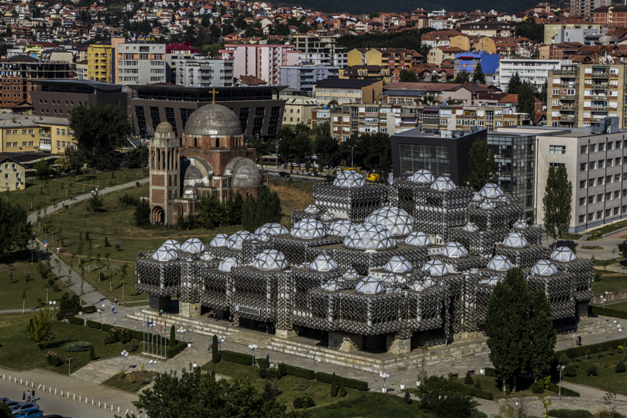 Kosovo National Library by Fábio Passos on 500px.com