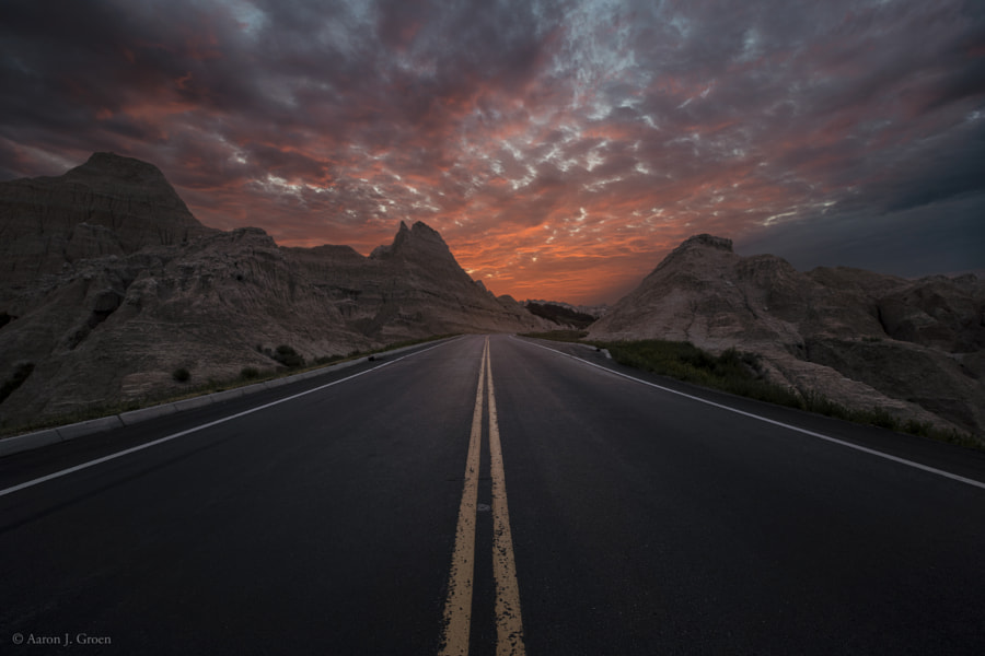 Photograph Road to Nowhere - Badlands by Aaron J. Groen on 500px