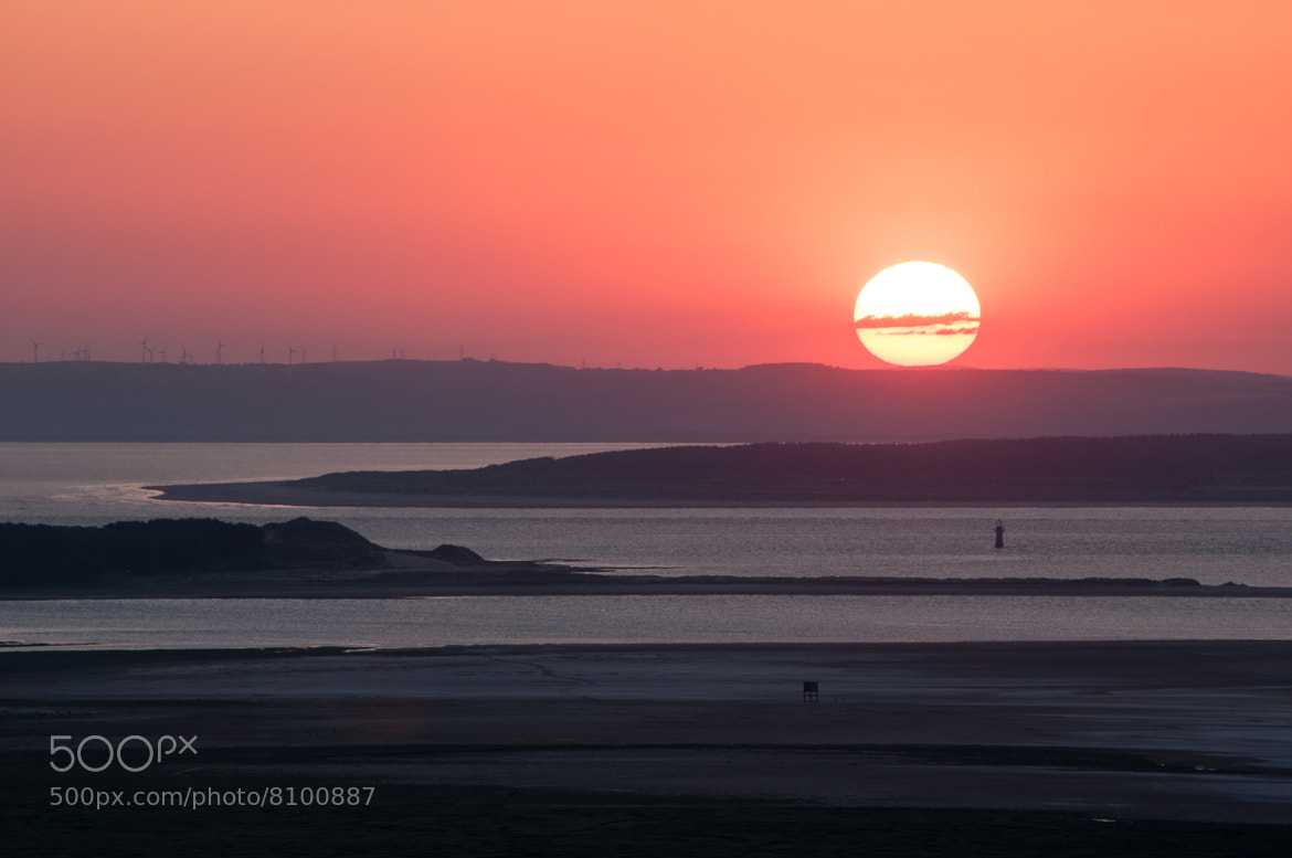 Photograph Sunset over Loughor Estuary from Cilifor Top, Gower Peninsula by Gower Photography on 500px