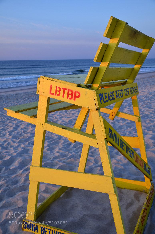 Photograph Lifeguard chair, Long Beach Island by Scott Vrana on 500px