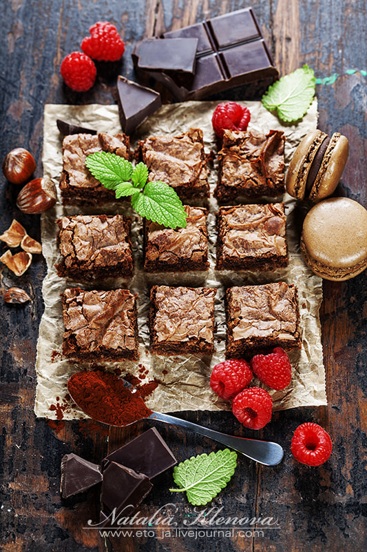Photograph homemade brownie by Natalia Klenova on 500px