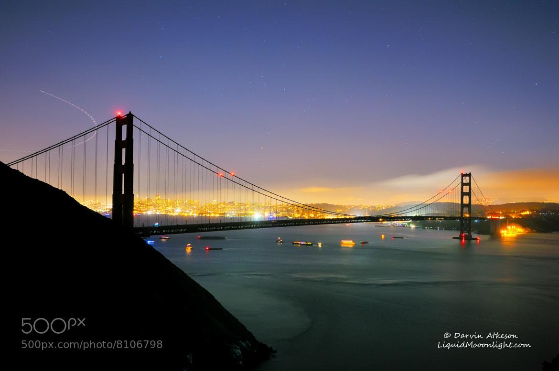 Photograph Silhouette - Golden Gate Bridge 75th Anniversary  by Darvin Atkeson on 500px