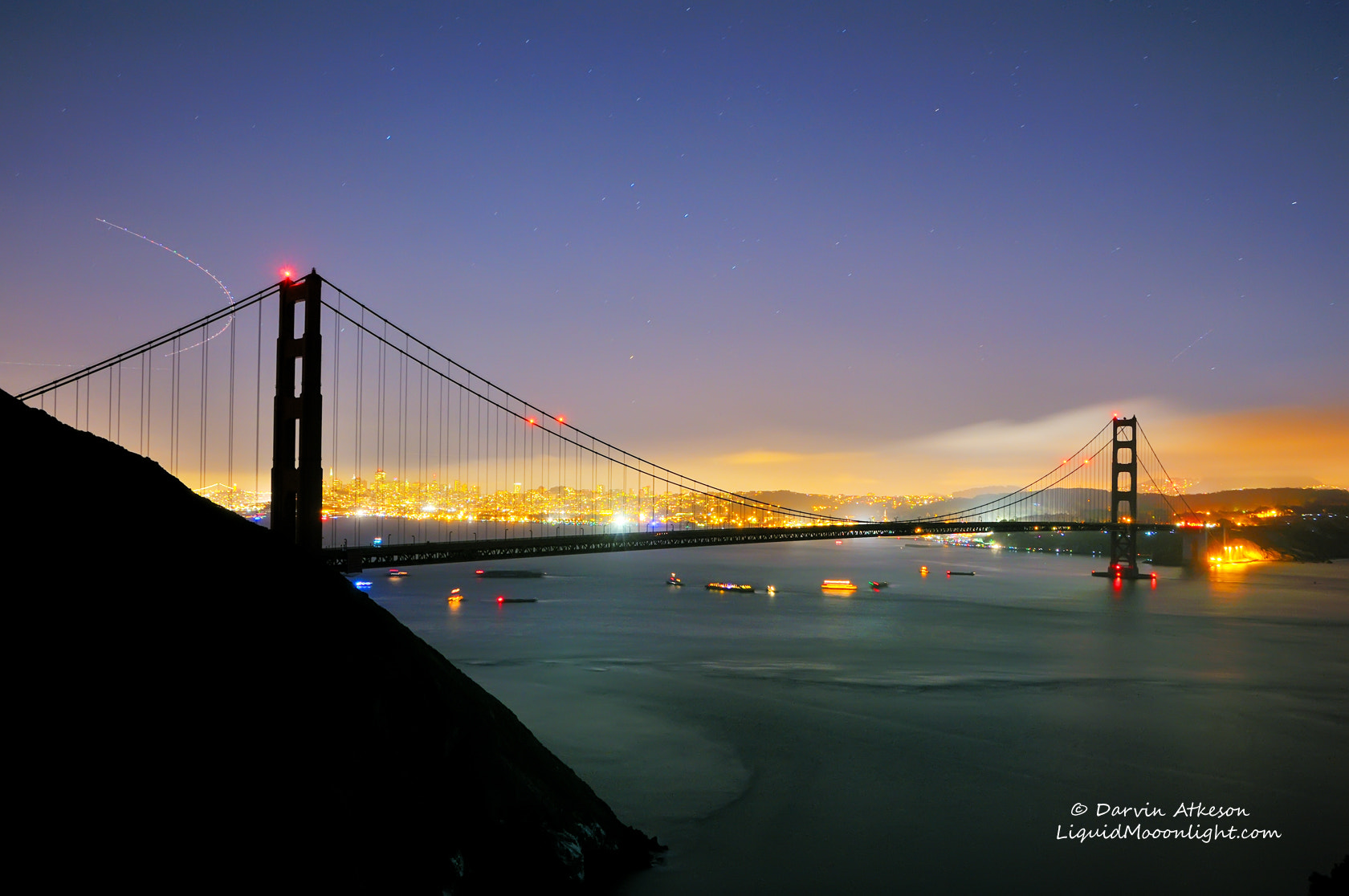 Photograph Silhouette - Golden Gate Bridge 75th Anniversary  by Darvin Atkeson on 500px