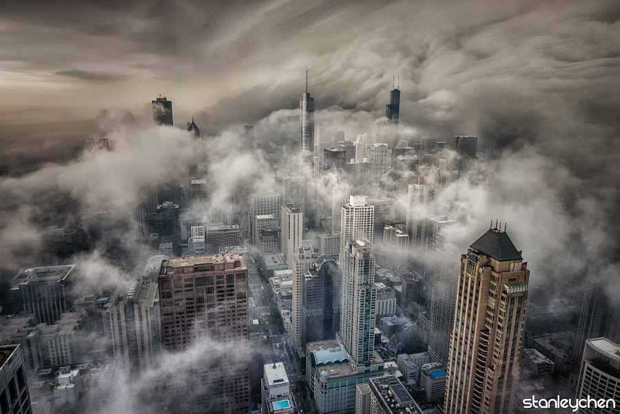 Stormy Chicago by Stanley Chen Xi on 500px.com