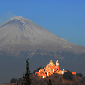 Vocano in calm, with church by Cristobal Garciaferro Rubio (CristobalGarciaferroRubio)) on 500px.com