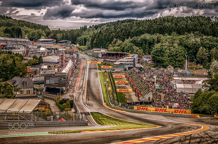 Photograph Eau Rouge, Spa-Francorchamps Circuit, 2014 by Andrei Robu - RoSonic.photos on 500px