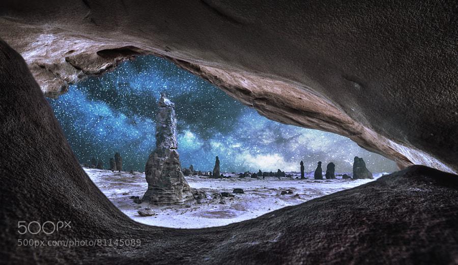Eye of the rocks by Meshari Aldulimi