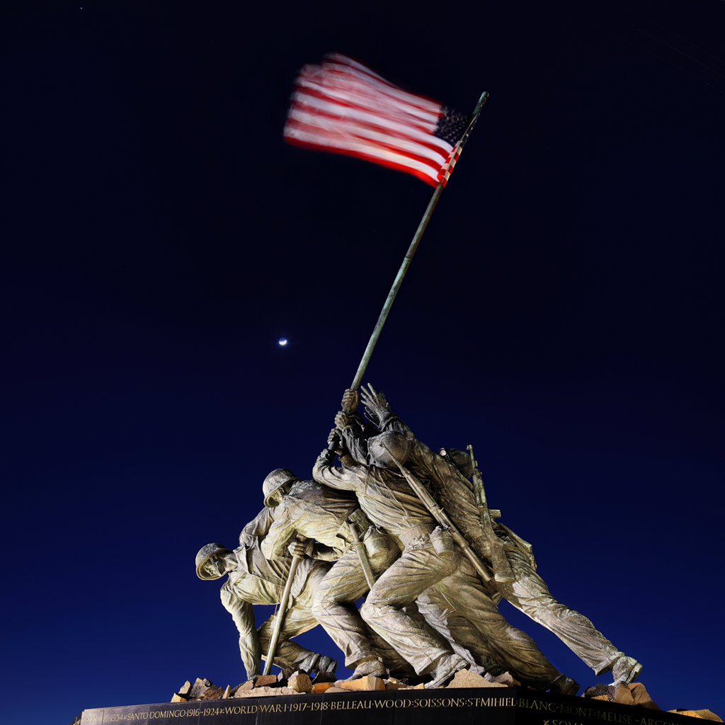 Photograph Iwo Jima Memorial at dusk by Metro DC Photography on 500px