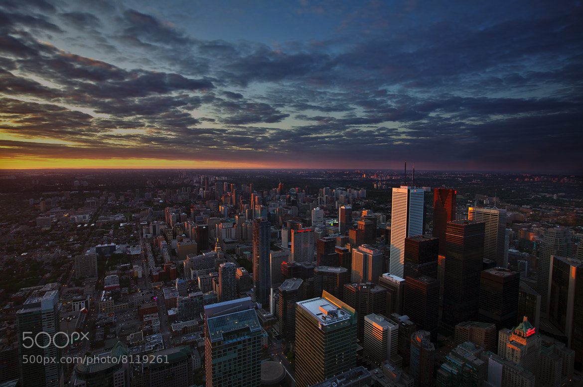 Photograph Sunset from CN Tower by Roland Shainidze on 500px