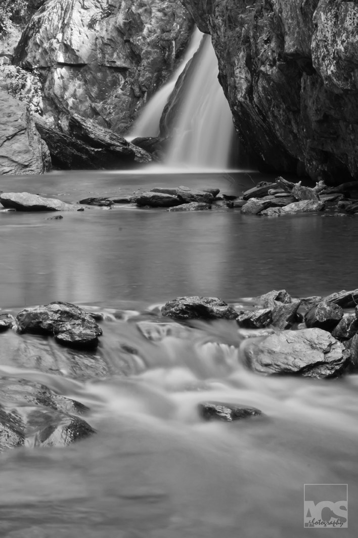 Photograph Kilgore Falls in Black and White by Aaron Stanley on 500px