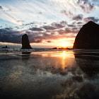 Beach Glass Sunset