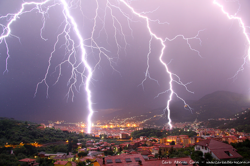Photograph Lightning in the city by Carlo Alberto  Conti on 500px