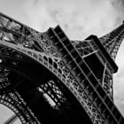 Постер, плакат: B&W Eiffel Tower