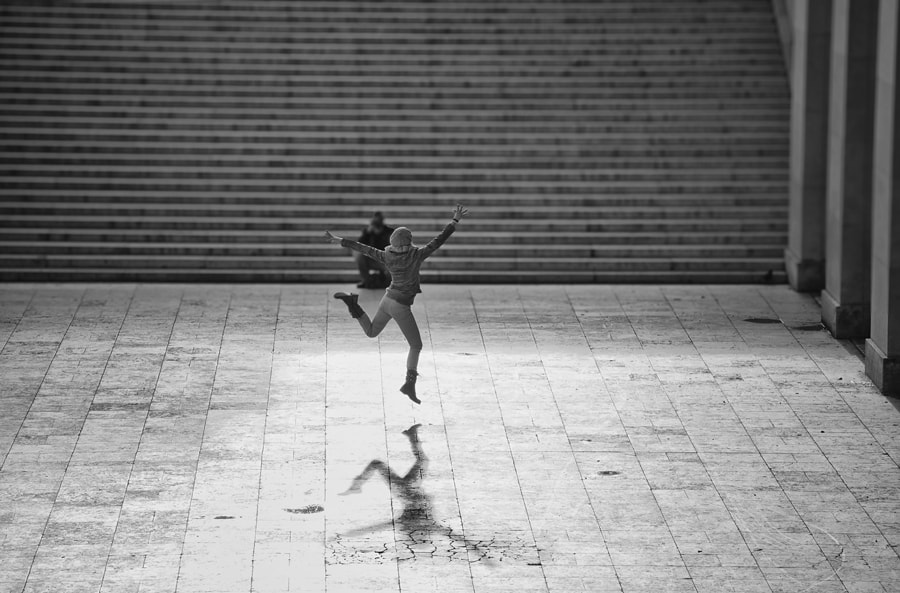 Photograph Jumping in the street by Magali K. on 500px