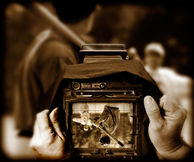 Photograph Old Time Baseball View Camera Monotone by Jon DeVaul on 500px