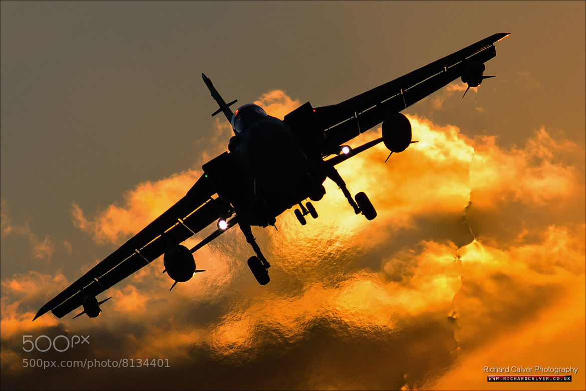 Photograph Angel of Death - Panavia Tornado GR4 at Sunset by Richard Calver on 500px