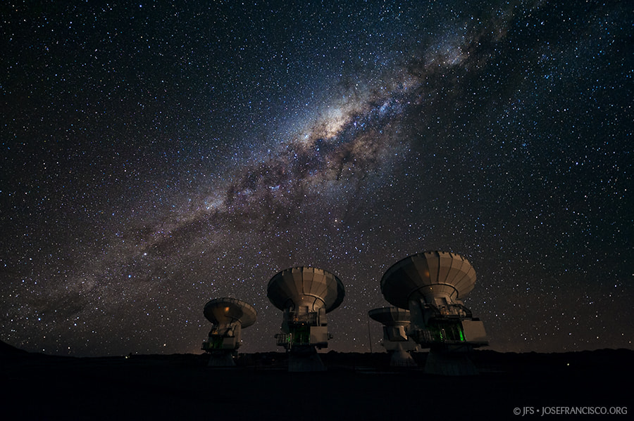 Photograph The Milky Way over ALMA by José Francisco Salgado on 500px