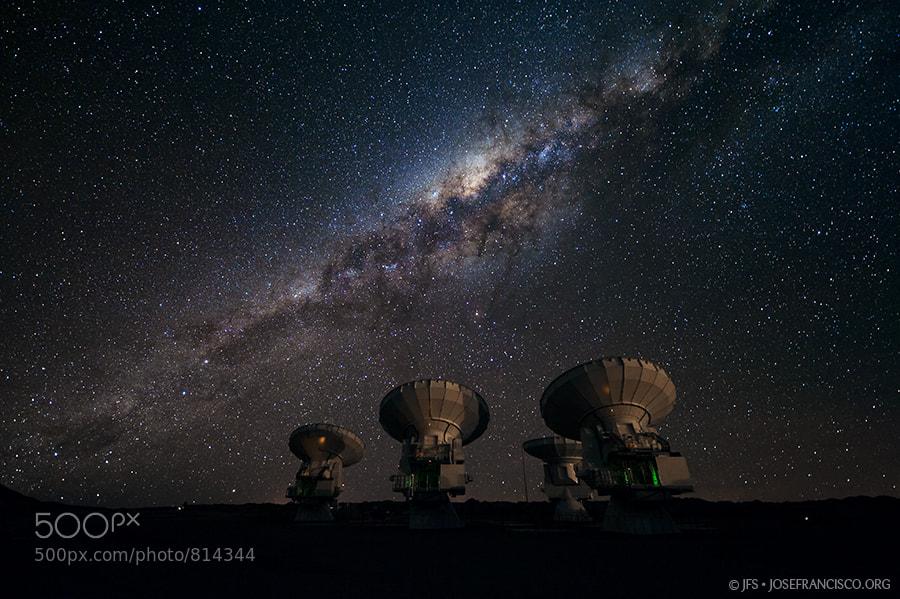 Photograph The Milky Way over ALMA by José Francisco Salgado on 500px