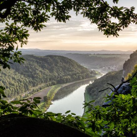 Sunset at the Bastei, Saxon Switzerland