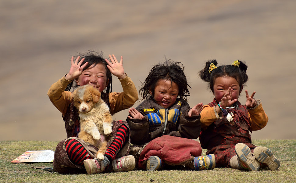 Photograph Girls in Litang by Ori Ron on 500px