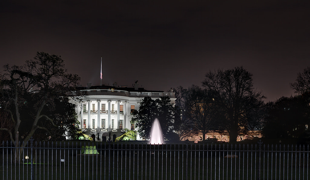 Photograph White House at Christmas by Metro DC Photography on 500px