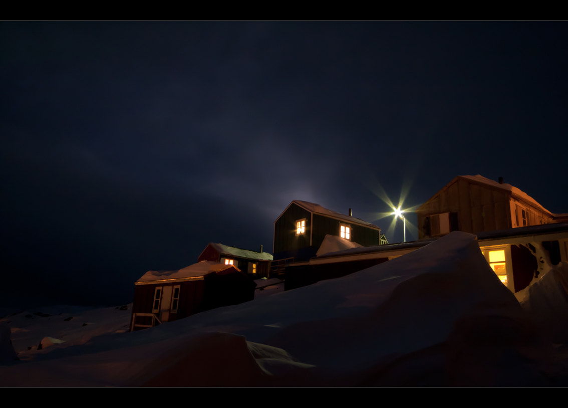 Photograph Ammassalik - The Red House by night by Moreno Bartoletti on 500px