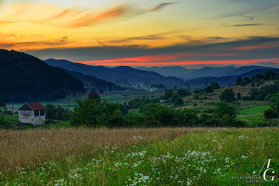 Nirvana in Kompolje, at the end of a summer day among the hills of Lika