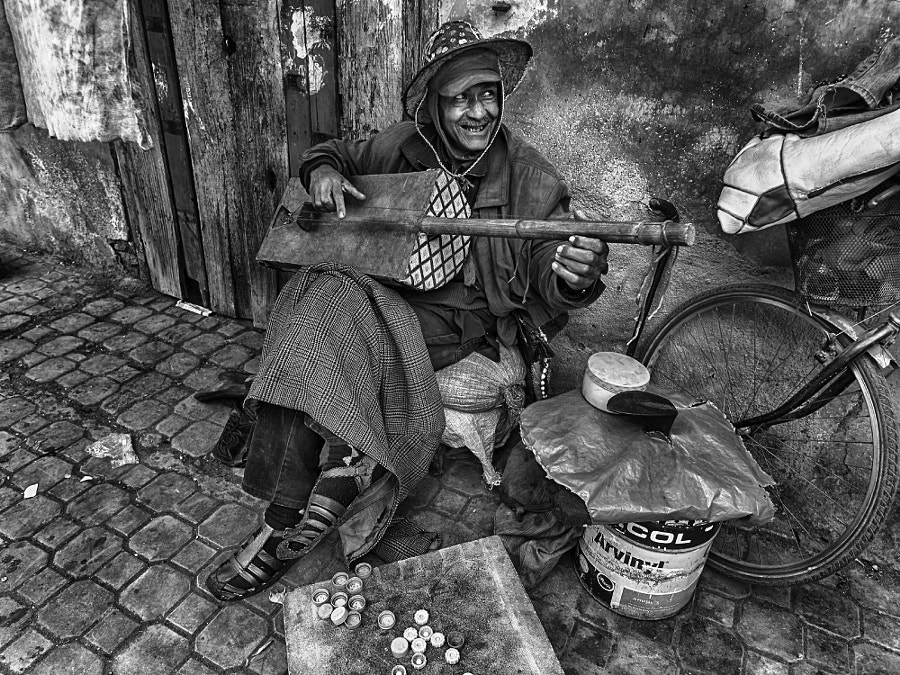 Photograph The Moroccan Street Crooner by Blindman shooting on 500px