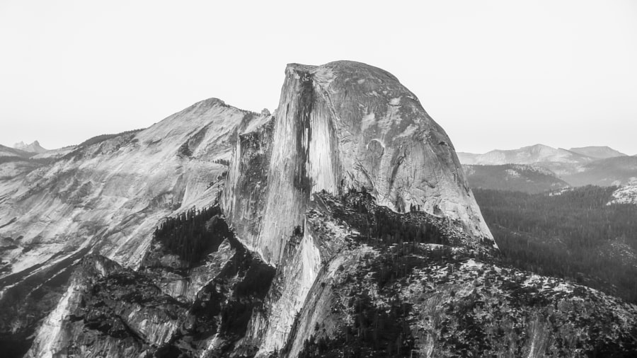 the Half Dome, in B&W