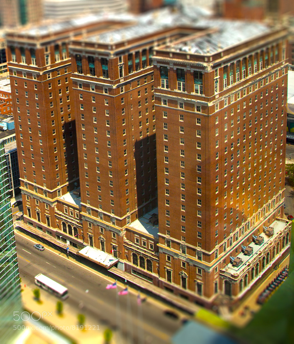Photograph Tilt-Shifted Statler Building by Jason Clark on 500px