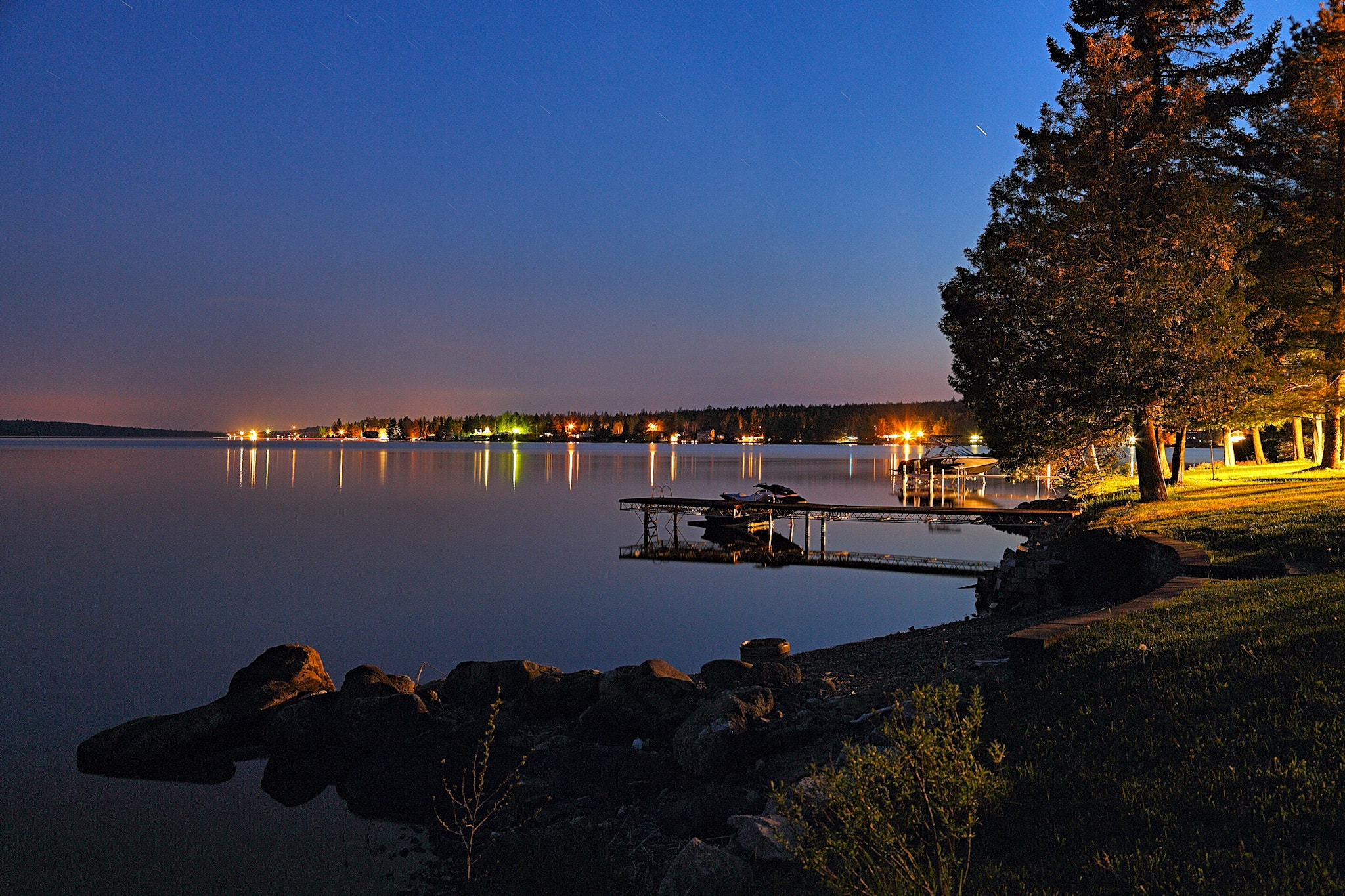 Photograph A quiet night on the lake by Jean-François Pidgeon on 500px