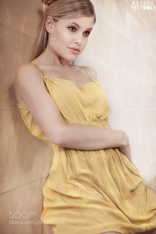 Model Carol Jenal, Switzerland Dress: Seam Fashion Design Makeup Jules Oberle