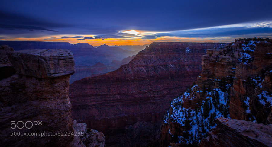 Photograph Winter Sunset - Grand Canyon by Pat Kofahl on 500px