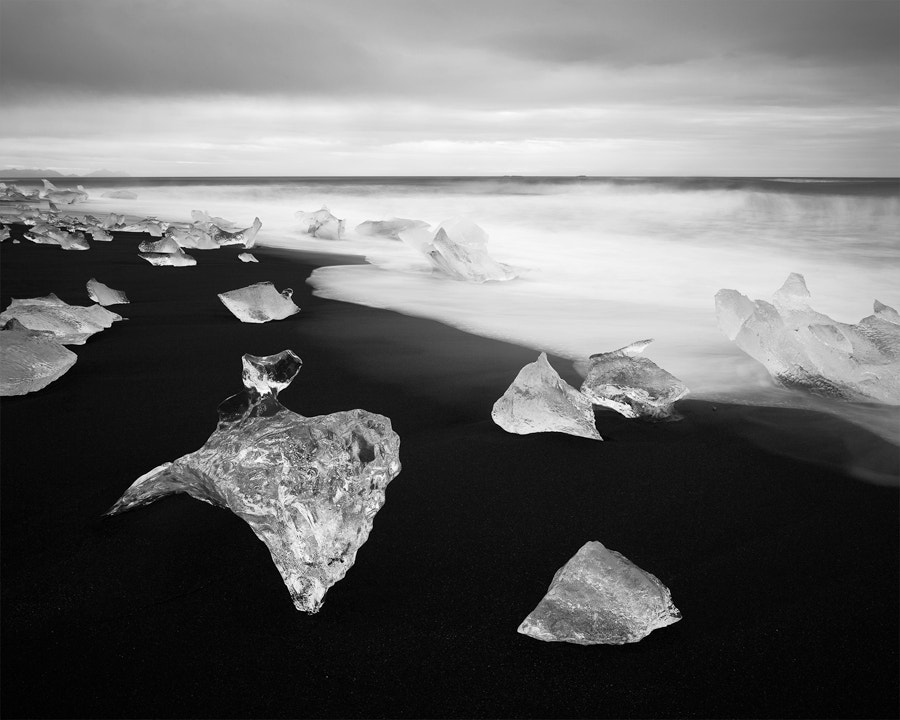 Photograph Glacial ice / Black sand by Magnus Lindbom on 500px