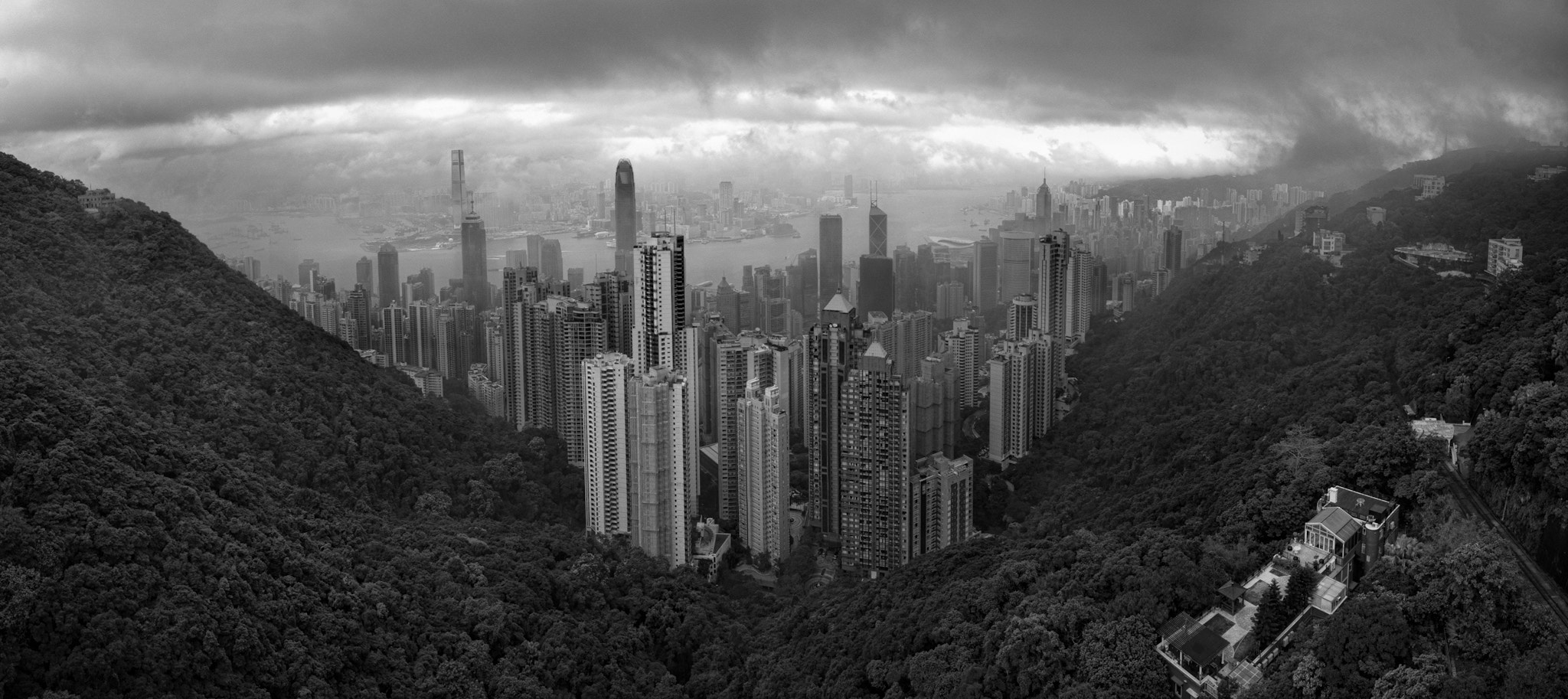 Photograph Incoming Shower over Victoria Harbour, Hong Kong by Greig Houghton on 500px