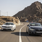 Постер, плакат: Chevrolet Camaro ZL1 vs BMW 435