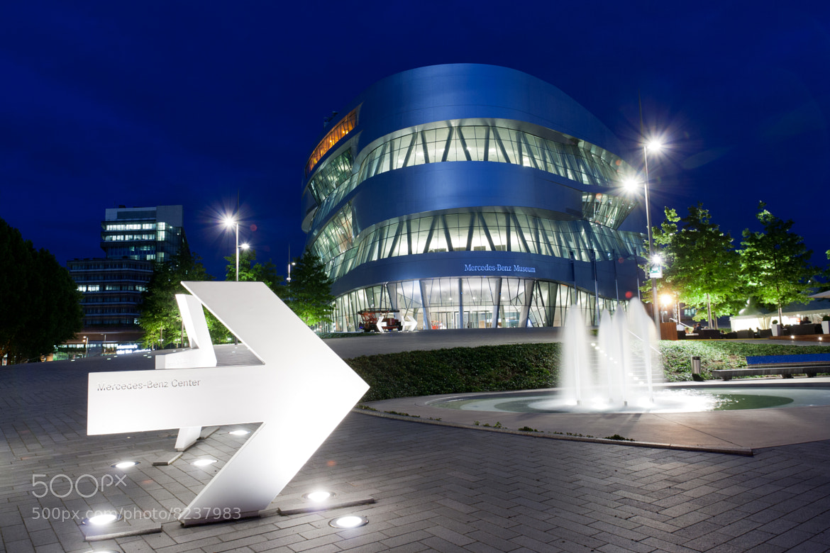 Photograph Daimler Museum @ Night by Dominik Gauss on 500px