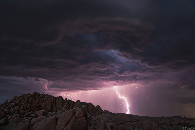 Photograph Lightning at Jumbo Rocks by Tuan Le on 500px