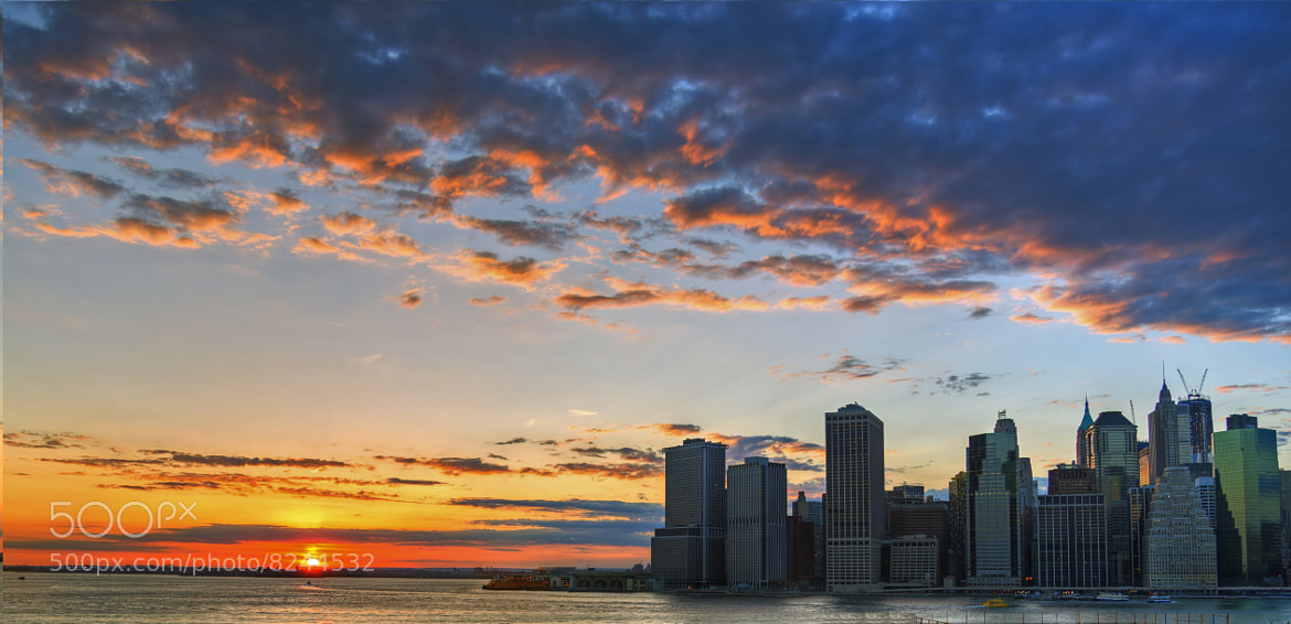 Photograph Manhattan - Sunset from Brooklyn heights by KP Tripathi (kps-photo.com) on 500px