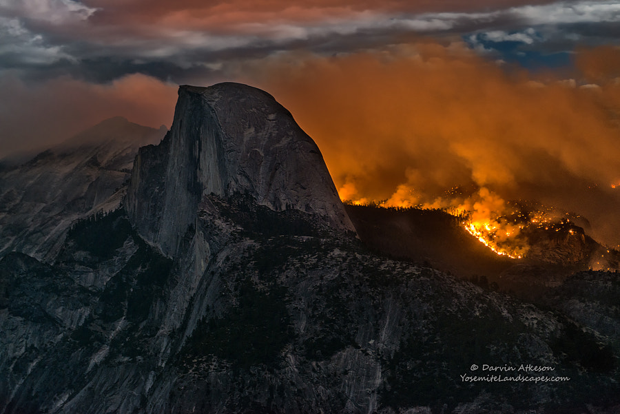 Fire and Half Dome - Yosemite National Park by Darvin Atkeson on 500px.com