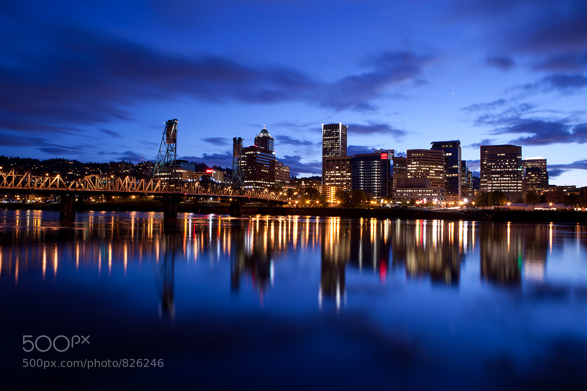 Photograph Blue Hour Portland by Ryan Katsanes on 500px