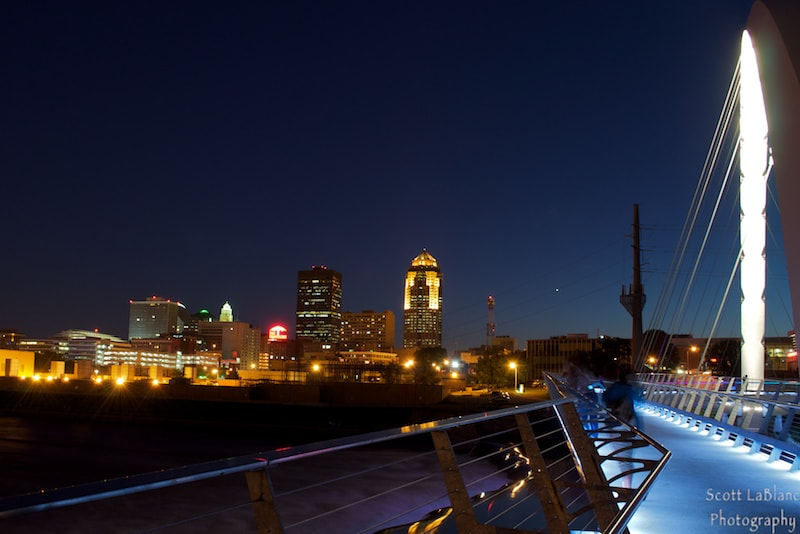 Photograph Des Moines at Night No. 2 by Scott LaBlanc on 500px