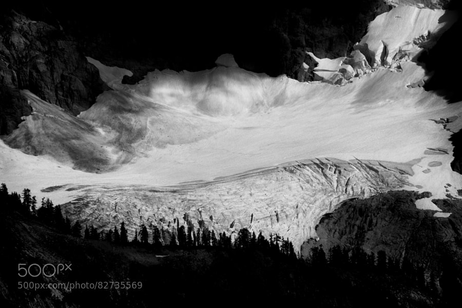 Photograph Curtis Glacier B&W by Andy Zahn on 500px