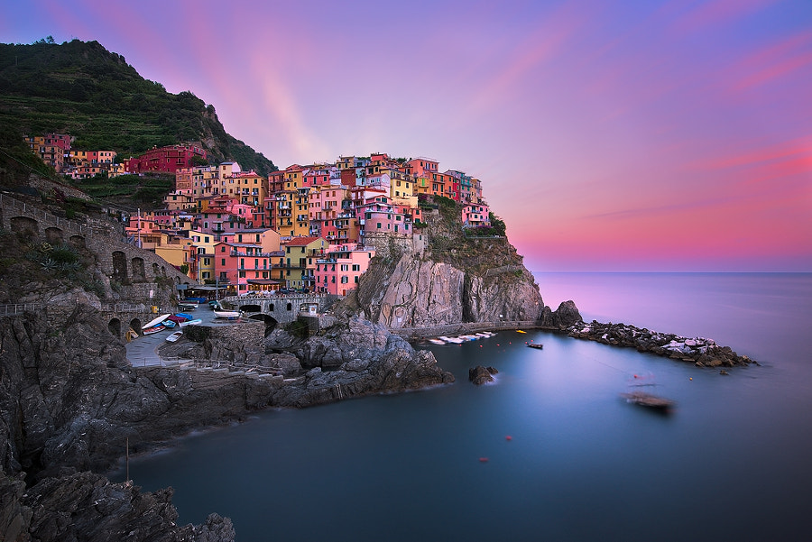 300 seconds in Manarola - Italy - Cinque Terre by Andre Distel on 500px.com