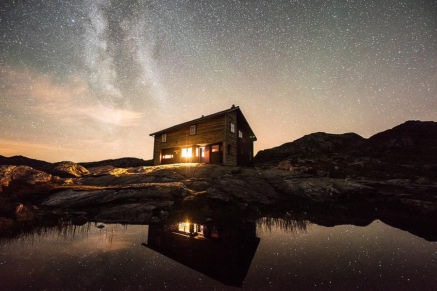 Photograph Milky way reflection by Espen Haagensen on 500px