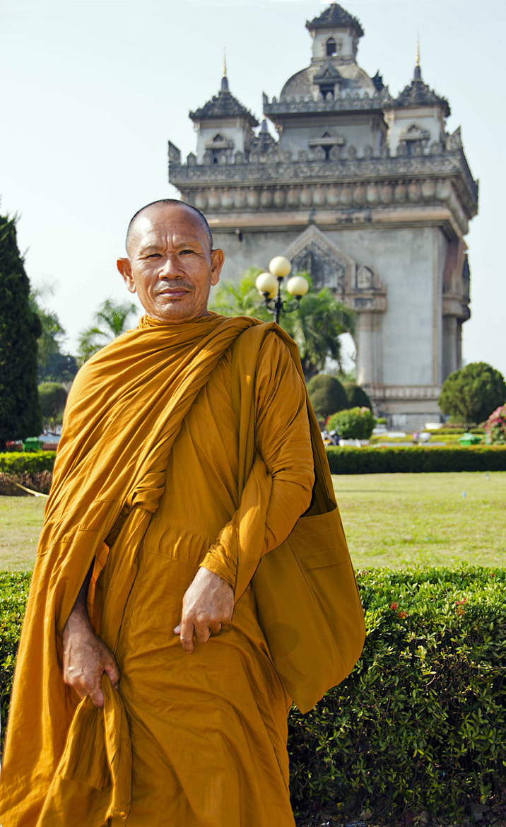 Photograph Monk in Vientiane, Laos by Joe Routon on 500px